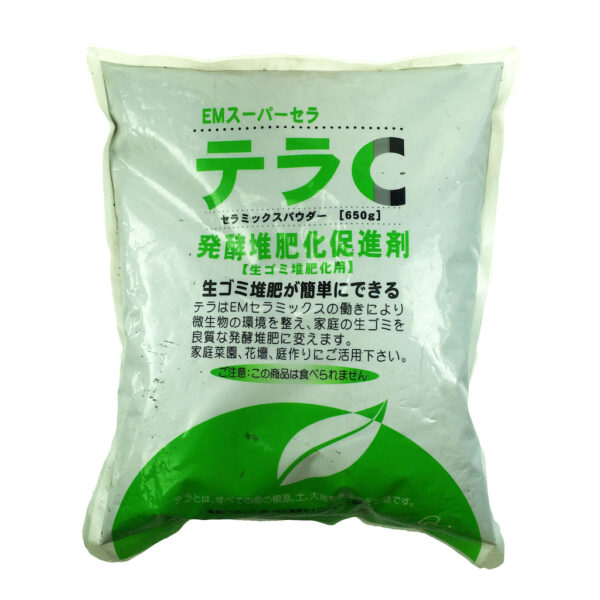 EM Super Cera Tera C poeder, Bokashi starter - 650 gram - voorkant 1024